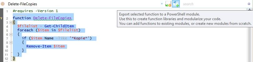 Beispiel: Funktion in PowerShell Modul exportieren