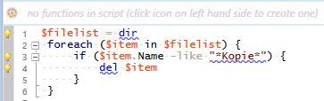 Beispiel Script unformatiert