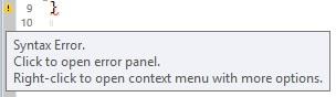 Beispiel: Syntax Error